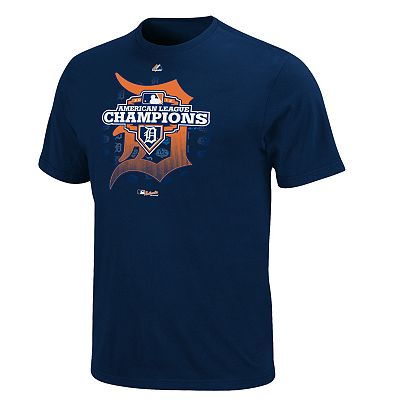 Majestic Detroit Tigers 2012 American League Champions Tee - Men