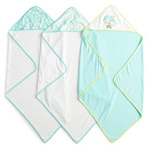 Just Born 3-pk. Terry Hooded Towels