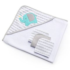 Just Born Hooded Towel & Washcloth Set