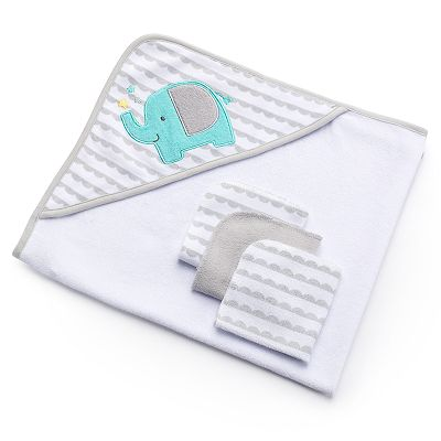 Just Born Hooded Towel and Washcloth Set