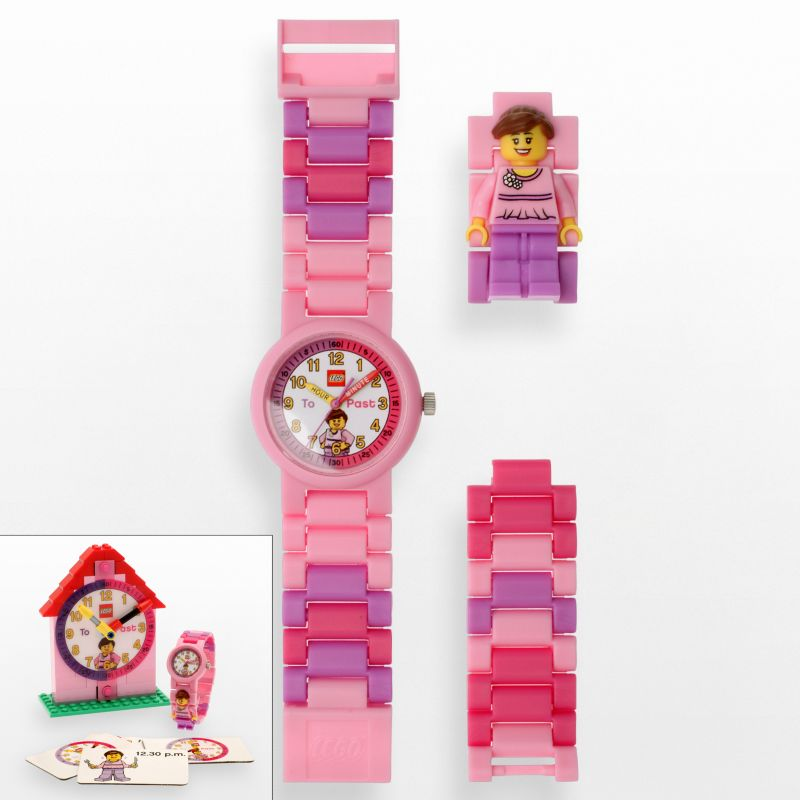 LEGO Time Teacher Pink Watch and Construction Clock Set - 9005039 - Kids