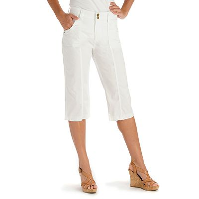 Lee Solid Twill Skimmer Pants - Petite