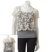 Mudd Lace Crop Top - Juniors