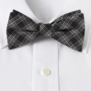 Croft and Barrow Checked Pretied Bow Tie