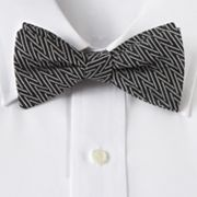 Croft and Barrow Zigzag Pretied Bow Tie