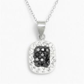 Sterling Silver Crystal Frame Pendant
