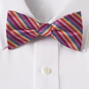 Croft and Barrow Striped Rainbow Pretied Bow Tie