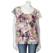 AB Studio Floral Tiered Top