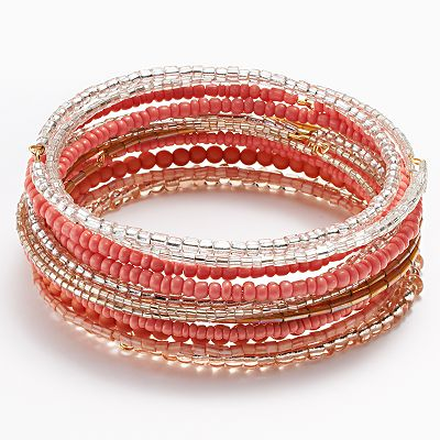 SONOMA life + style Beaded Bangle Bracelet Set
