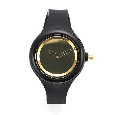 RumbaTime Jane Black Silicone Watch - Women