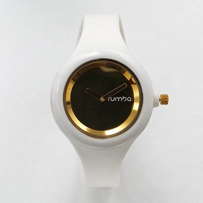 RumbaTime Jane White Silicone Watch - Women