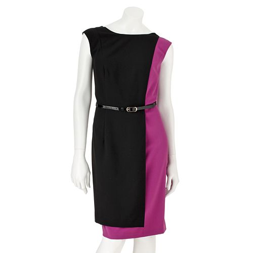 AB Studio Colorblock Sheath Dress