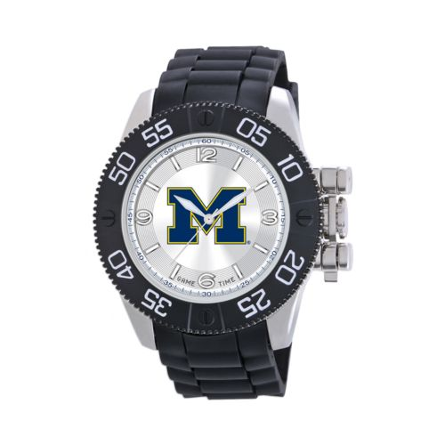 Game Time Beast Series Michigan Wolverines Stainless Steel Watch - COL-BEA-MIC - Men