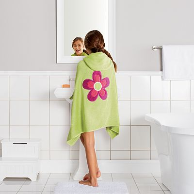 Jumping Beans Flower Big Kid Bath Wrap
