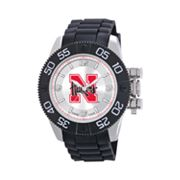 Game Time Beast Series Nebraska Cornhuskers Stainless Steel Watch - COL-BEA-NEB - Men