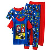 Nintendo Madness 4-pc. Pajama Set - Boys 4-12