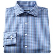Marc Anthony Modern-Fit Plaid Spread-Collar Dress Shirt