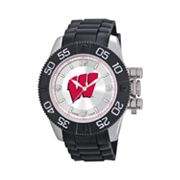 Game Time Beast Series Wisconsin Badgers Stainless Steel Watch - COL-BEA-WIS - Men