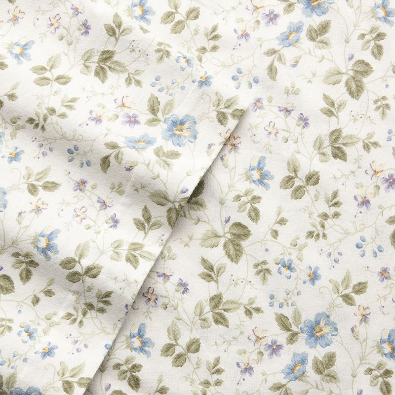 Laura Ashley Flannel Queen Sheet Set: Flannel Queen Fitted Sheet