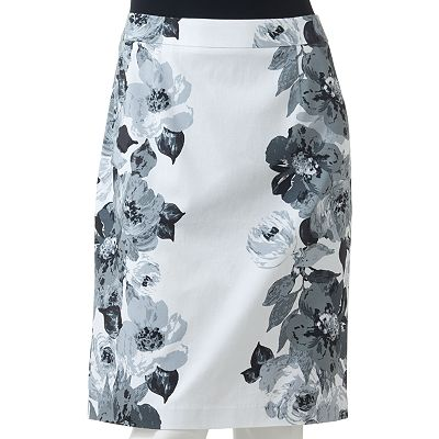 Apt. 9 Floral Pencil Skirt