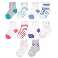 Toddler Girl Jumping Beans® 10 pkCrew Socks