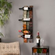Adriano 6-Bottle Wall-Mount Wine Rack