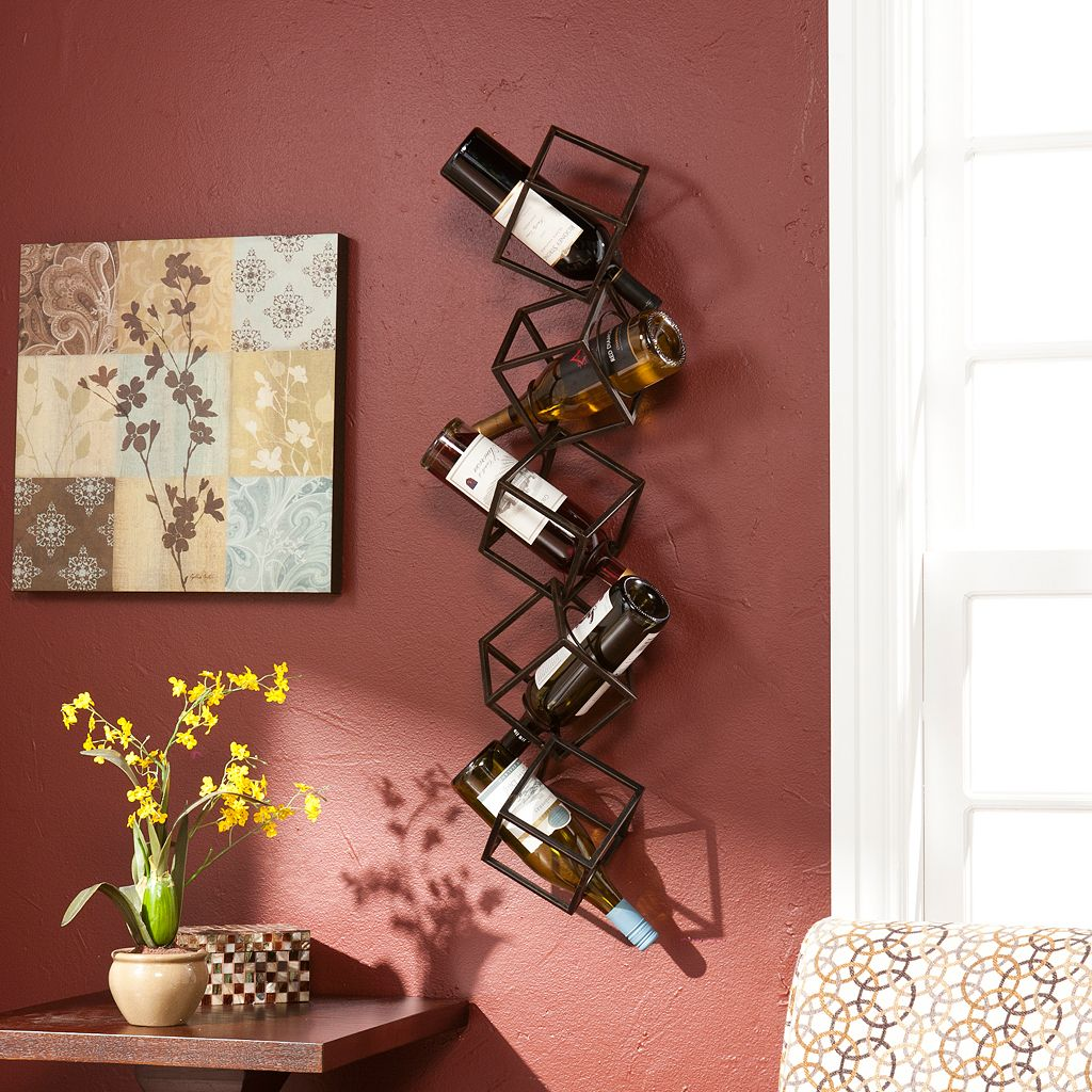 Marco 5-Bottle Wall-Mount Wine Rack