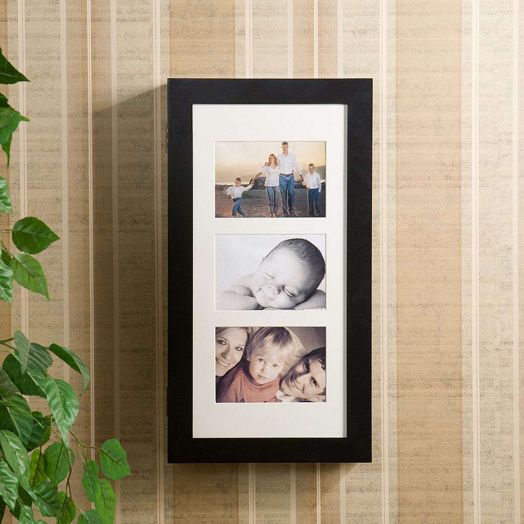 Photo Display 3-Photo Wall Jewelry Armoire