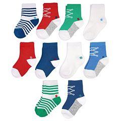 Toddler Boy Jumping Beans® 10 pkCrew Socks