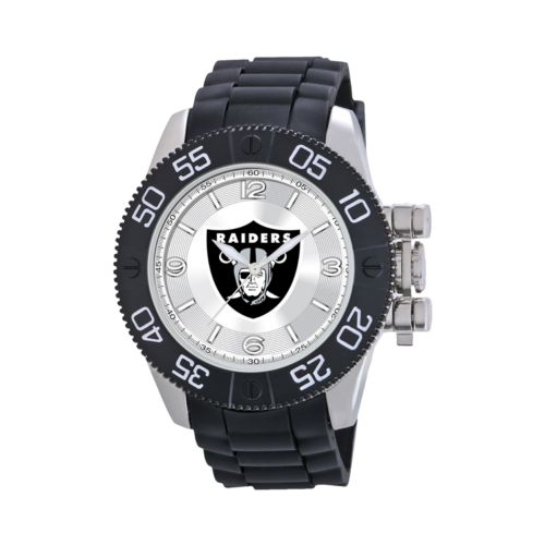 Game Time Beast Series Oakland Raiders Stainless Steel Watch - NFL-BEA-OAK - Men