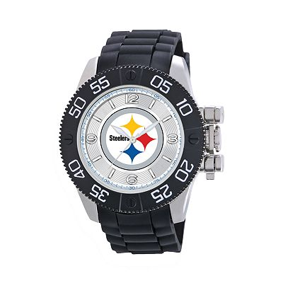 Game Time Beast Series Pittsburgh Steelers Stainless Steel Watch - NFL-BEA-PIT - Men