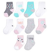 Baby Girl Jumping Beans® 10-pk. Low-Cut Socks