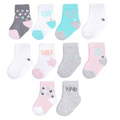 Baby Girl Jumping Beans® 10-pk. Sweets Crew Socks