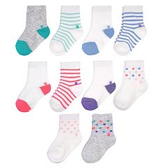 Baby Girl Jumping Beans® 10 pkCrew Socks