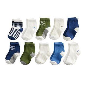 Baby Boy Jumping Beans® 10-pk. Crew Socks