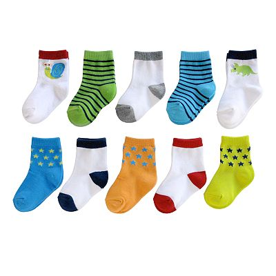 Jumping Beans 10-pk. Fun Snail Socks - Baby