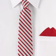 Arrow Striped Tie and Pocket Square