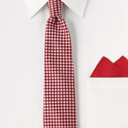 Arrow Geometric Tie and Pocket Square