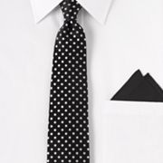 Arrow Polka-Dot Tie and Pocket Square