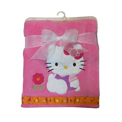 Hello Kitty Plush Receiving Blanket by Lambs and Ivy