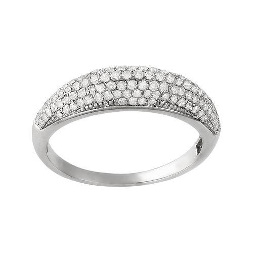 10k White Gold .47-ct. T.W. Diamond Ring