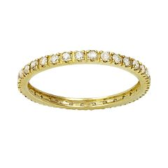 10k Gold 1/2 ctT.W. Diamond Eternity Wedding Band