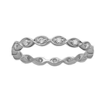 10k White Gold 1/5-ct. T.W. Diamond Scalloped Eternity Wedding Ring