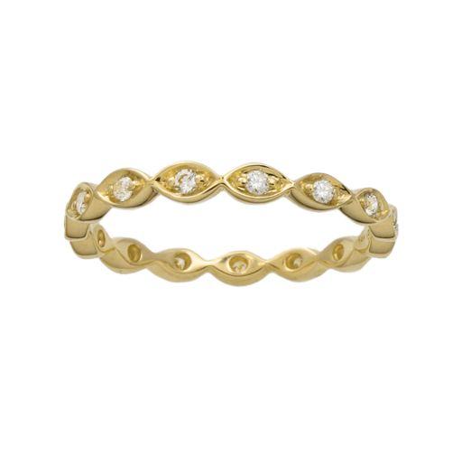 10k Gold 1/5-ct. T.W. Diamond Scalloped Eternity Wedding Ring