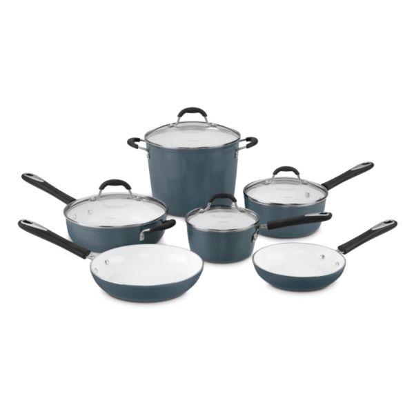 .com Cuisinart Cuisinart Ceramica 10-pc. Nonstick Ceramic Cookware ...