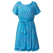 Emily West Sequin Cold-Shoulder Dress - Girls 7-16