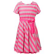 Emily West Striped Neon Dress - Girls 7-16