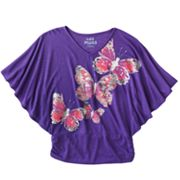 Mudd Butterfly Slubbed Poncho Top - Girls 7-16