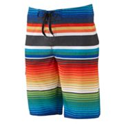 Hang Ten Striped Board Shorts - Men