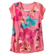 Candie's Butterfly Chiffon Top - Girls 7-16